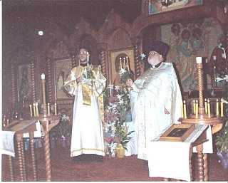 Serving Pascha, 1988 as a Deacon with Fr Tom at Holy Apostles in Saddle Brook, NJ