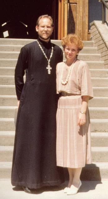 Newly ordained Fr Paul & Presbytera Nancy, June 24, 1988