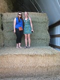 Hannah and Katie made some hay at the Nelson farm, where the wedding reception was held