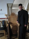 Mother Abbess Gabriella Abbess' Chair, donated by St Herman's faithful