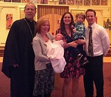George was baptized March 31