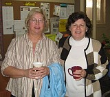 Phyllis (left) with her sponsor, Rachel